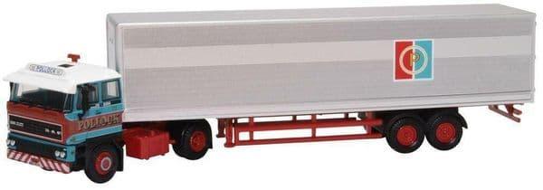 Oxford 76D28003 D28003 1/76 OO Scale DAF DAF3300 Short Van Trailer Pollock Mint Boxed